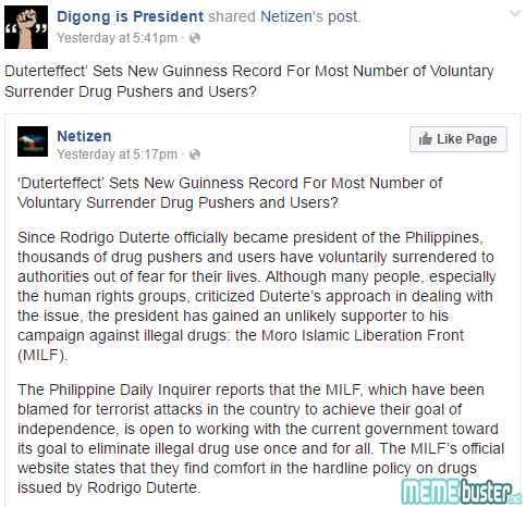 Duterteeffect Guiness Record