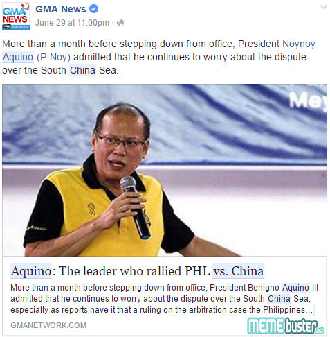PNoy on West Philippine Sea Case