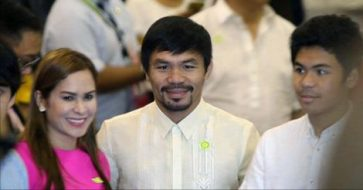 Pacquiao denies Arum's announcement about him taking a Senate leave for boxing