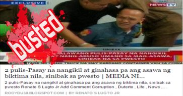 Busted: Pasay cops arrested for extortion, rape under Duterte? Nope, this was in 2013!