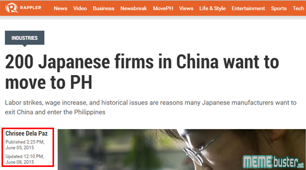 Rappler on Japanese Companies in Philippines