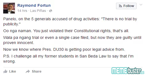 Raymond Fortun on Trial by Publicity
