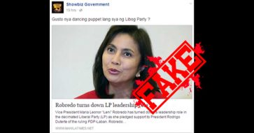 Busted: Robredo still hesitant over LP leadership role, not outright rejecting it