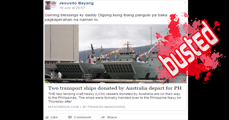 Transports Ships Donated by Australia