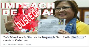 Busted: De Lima, as a senator, is not an impeachable government official