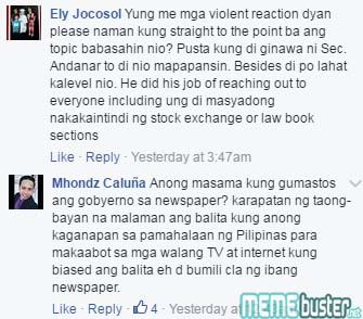 Comments on Blind Item Section Govt Tabloid