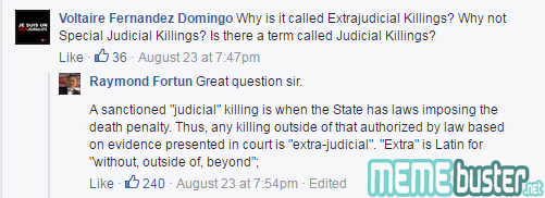 Comments on Fortun Debate Over Term EJK
