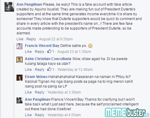 Comments on NASA Hailed Duterte Best President