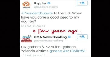 Duterte asks when UN did 'good deed' for PH; Well, UN gathered $193M for Yolanda victims