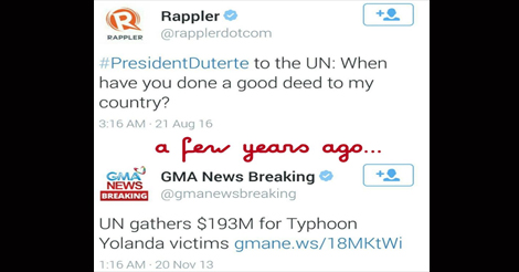 Duterte Ask UN Good Deed