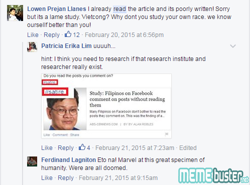 Filipinos Cant Recognize Satire