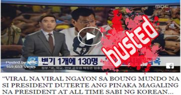 "Busted: Korean reporter called Duterte ""the best president of all time""? But Korean news has no subtitles!"