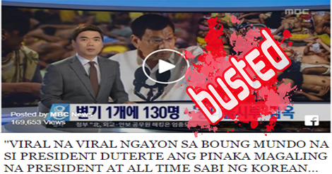 Korean Reporter Called Duterte