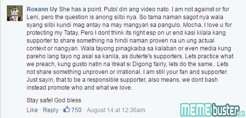 Comments on Robredo Waiting Duterte to Die