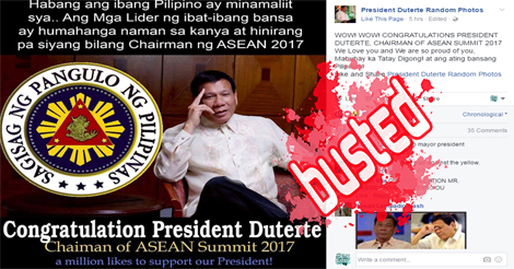 Duterte ASEAN Chair