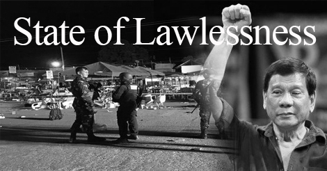 Dutertes declaration state of lawlessness