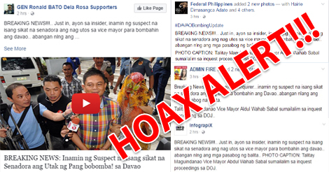 Hoax Alert Insider admits Davao bombing mastermind