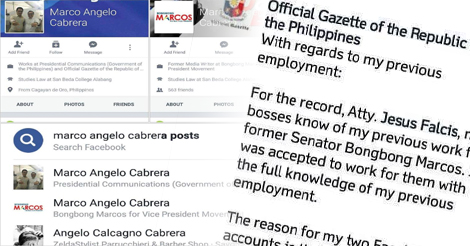 Official Gazette Marco Angelo Cabrera