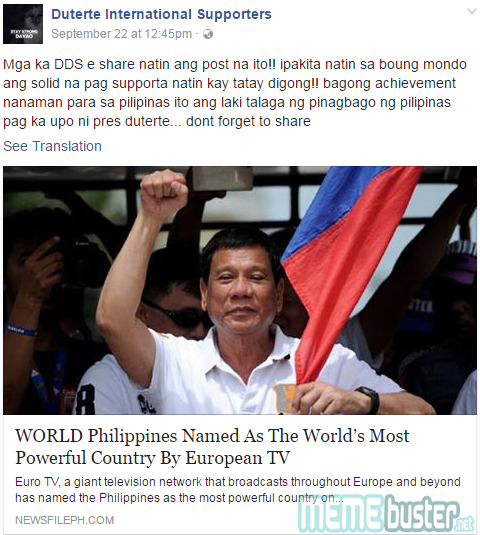 PH most powerful country
