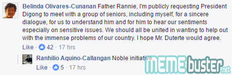 Comments on San Beda Dean to Duterte