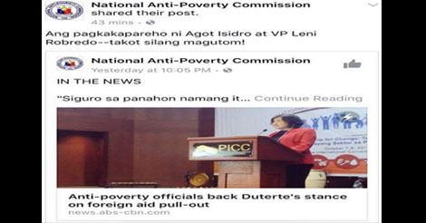 NAPC Apologizes on Robredo Agot