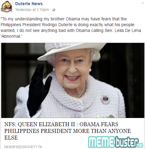 Obama is Scared of Duterte