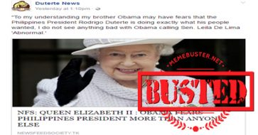 Busted: Queen Elizabeth II hinted that Obama is scared of Duterte? Nope, it's satire!