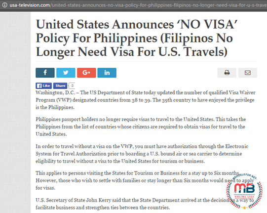 US No Visa with PH