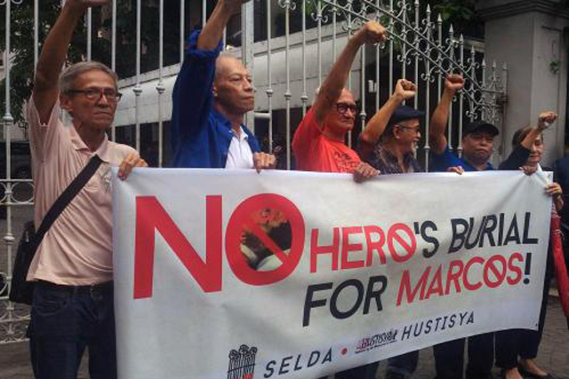 Anti Marcos Rally Banner Edited