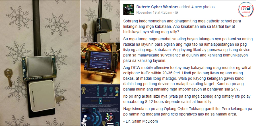 Cyber Tokhang Duterte Online Supporters