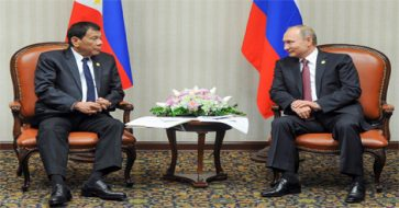 Duterte finally meets Putin: 'Like we've known each other for so long'