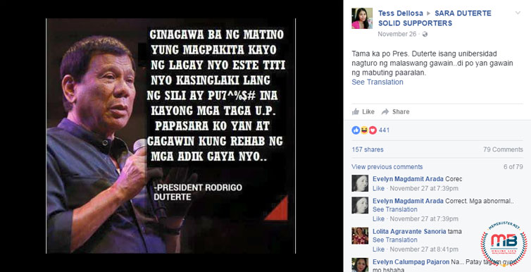 Duterte Quote About Oblation Run