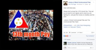 Labor leader authored 13th-month pay, Marcos decreed it, Cory amended it