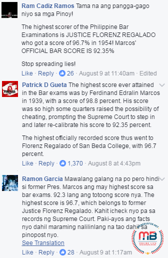 Marcos Highest Bar Exam Scorer