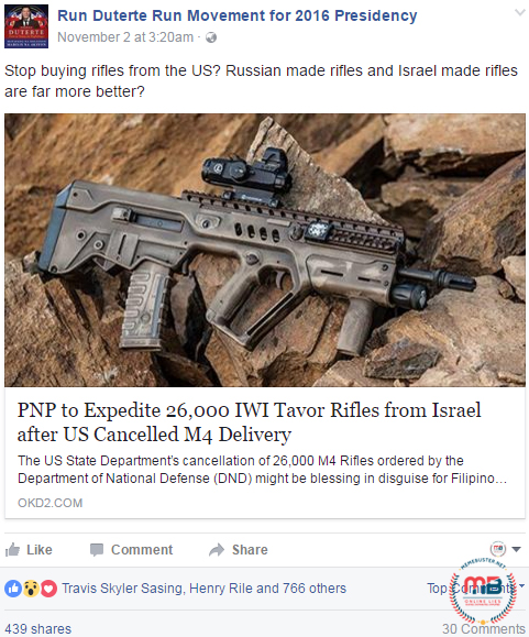 PNP Buying Rifles from Russia