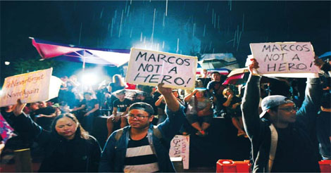 Protests Against Marcos LNMB Burial