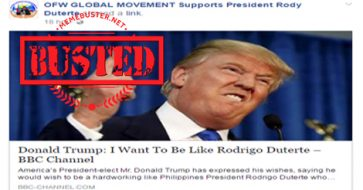 Busted: Article about Trump wanting to be like Duterte is a HOAX!