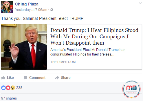 Trump and His PH Relations