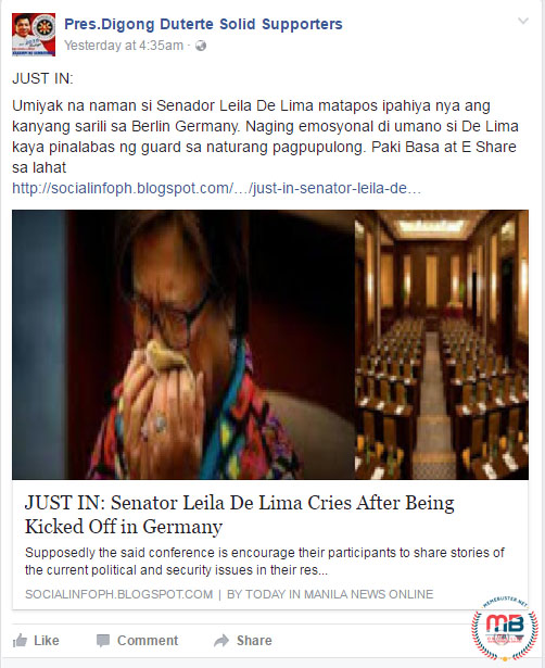 De Lima Cries Kicked Out Germany