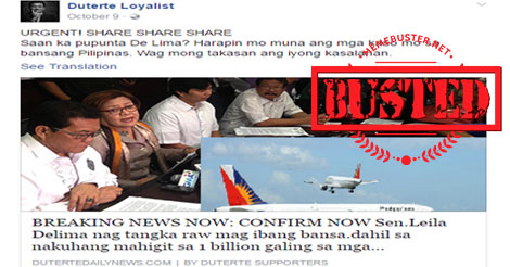 De Lima Try to Leave PH