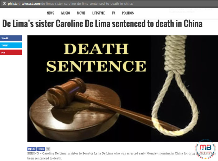 De Limas Sister Sentenced to Death