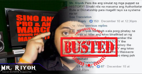 Duterte Supporter Mr Riyoh Slammed