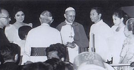Marcos Claim Saved Pope Paul VI