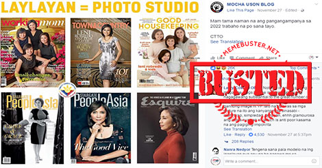 Mocha about Robredos Magazine Covers