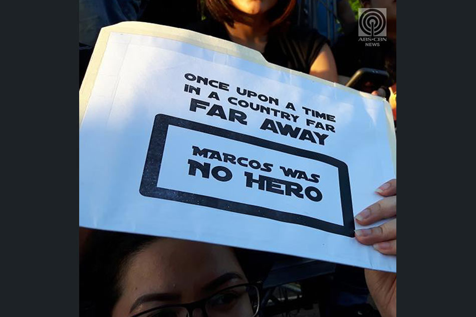 Placards During Marcos Burial Protests
