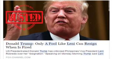 Busted: Did Trump call Robredo a fool? Fake news alert!