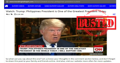 Trump Hail Duterte Greatest Presidents Today