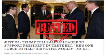 Busted: Trump DID NOT tell Japan PM Abe to support Duterte