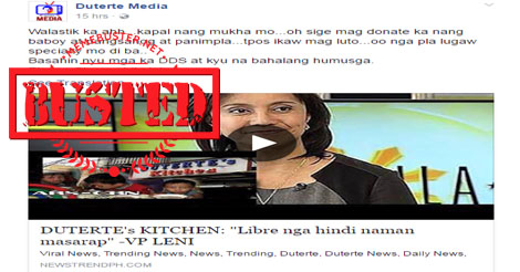 VP Leni Criticize Duterte Kitchen