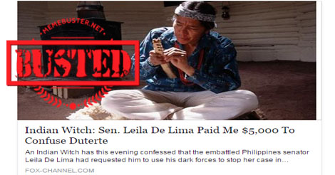 de Lima Paid Indian Witch